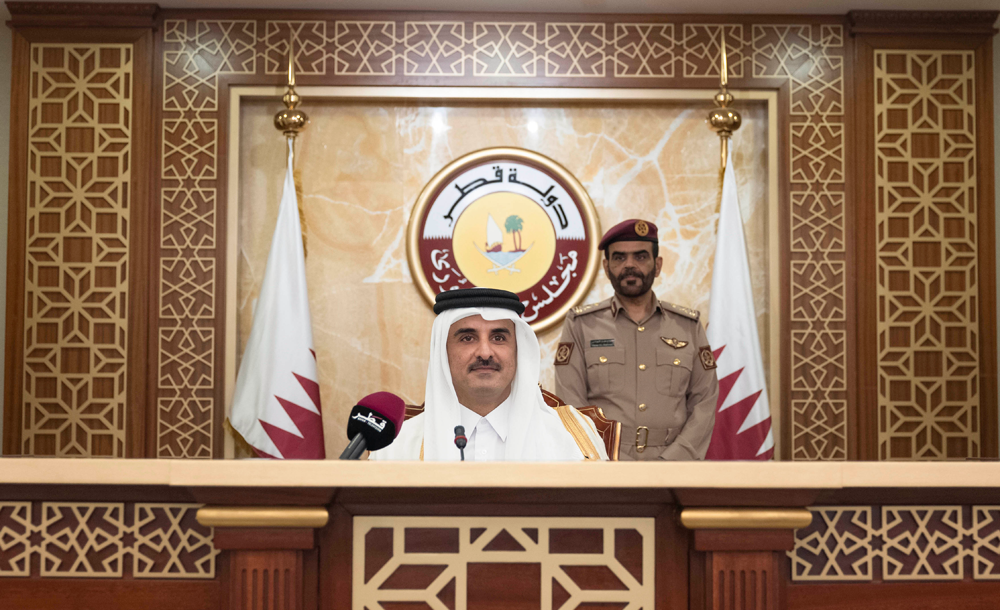 HH The Amir Inaugurates Advisory Council's 48th Ordinary Session