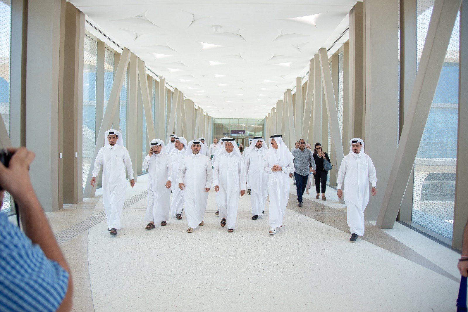 Advisory Council Speaker Visits Doha Metro and Mega Strategic Reservoirs Project in Al Thumama