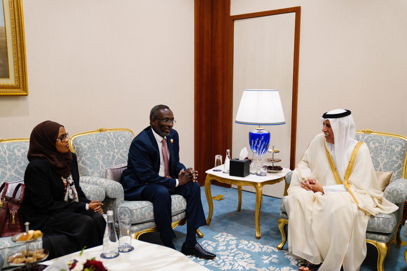 Speaker of the Shura Council Meets Djibouti and Burundi Counterparts