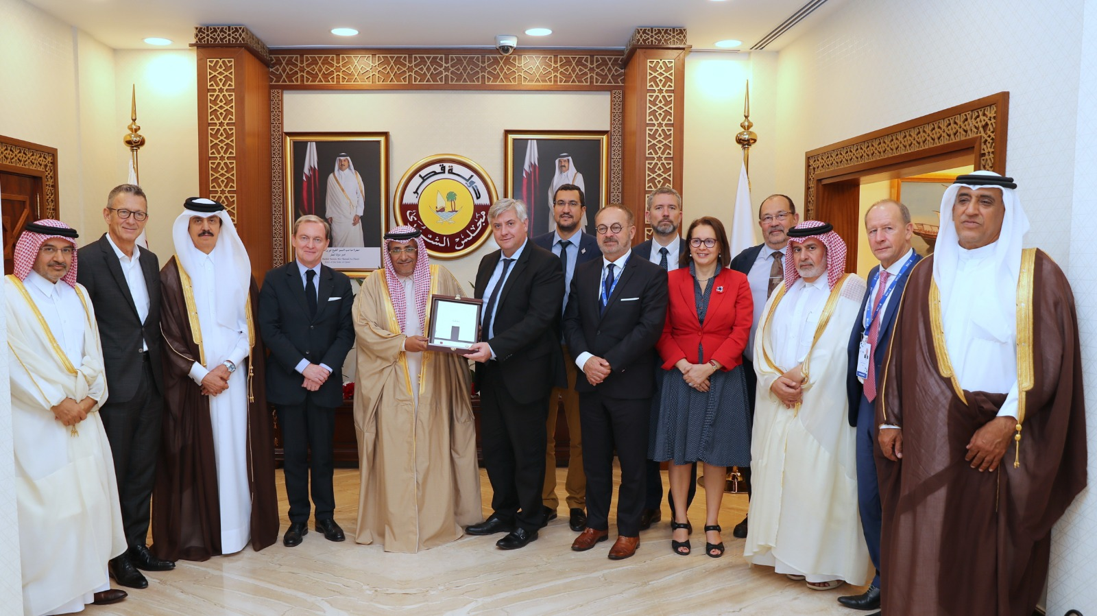 Deputy Speaker of Shura Council Meets Parliamentary Delegations Participating in Doha Forum
