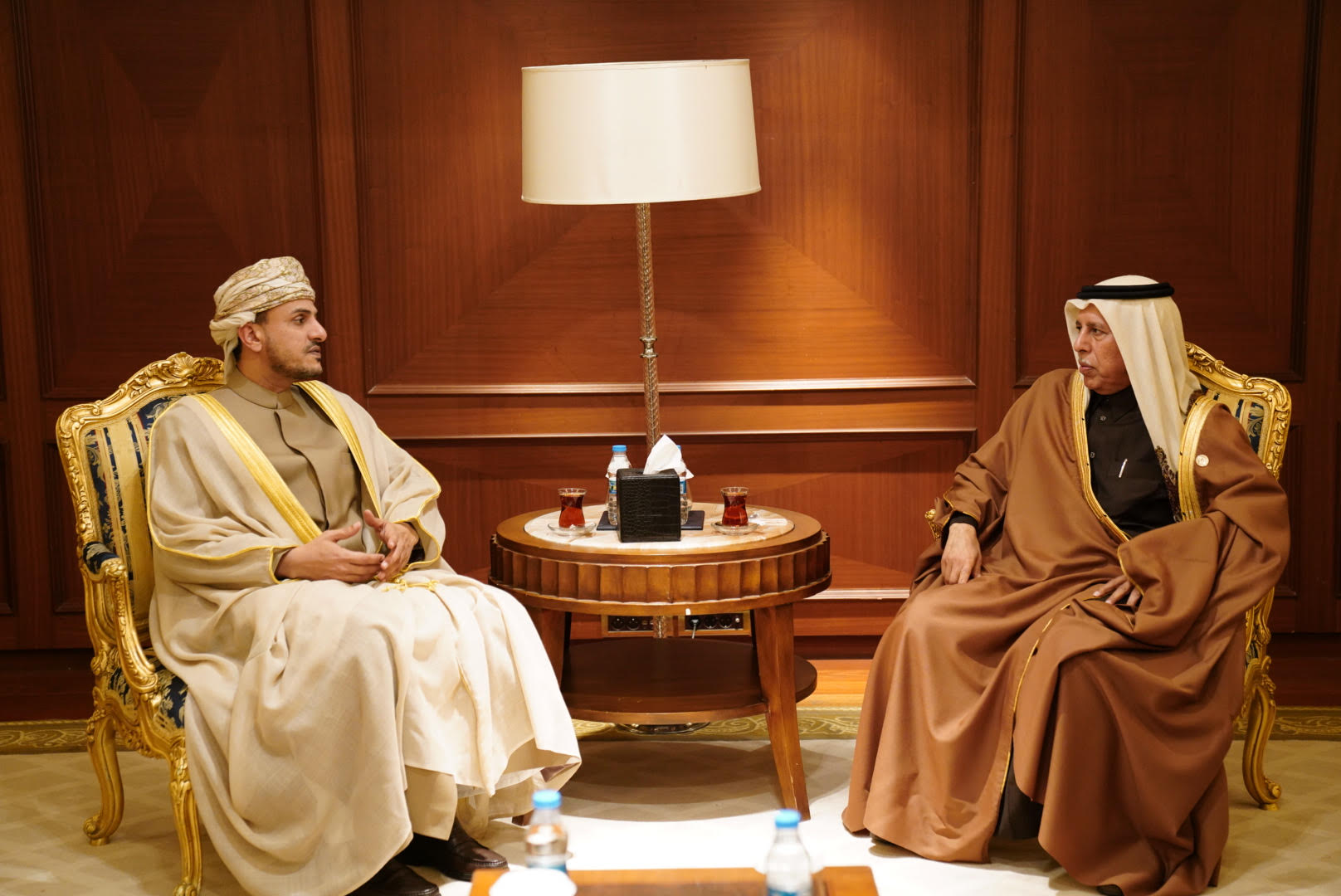 Shura Council Speaker Meets Vice-Chairman of Omani Shura Council