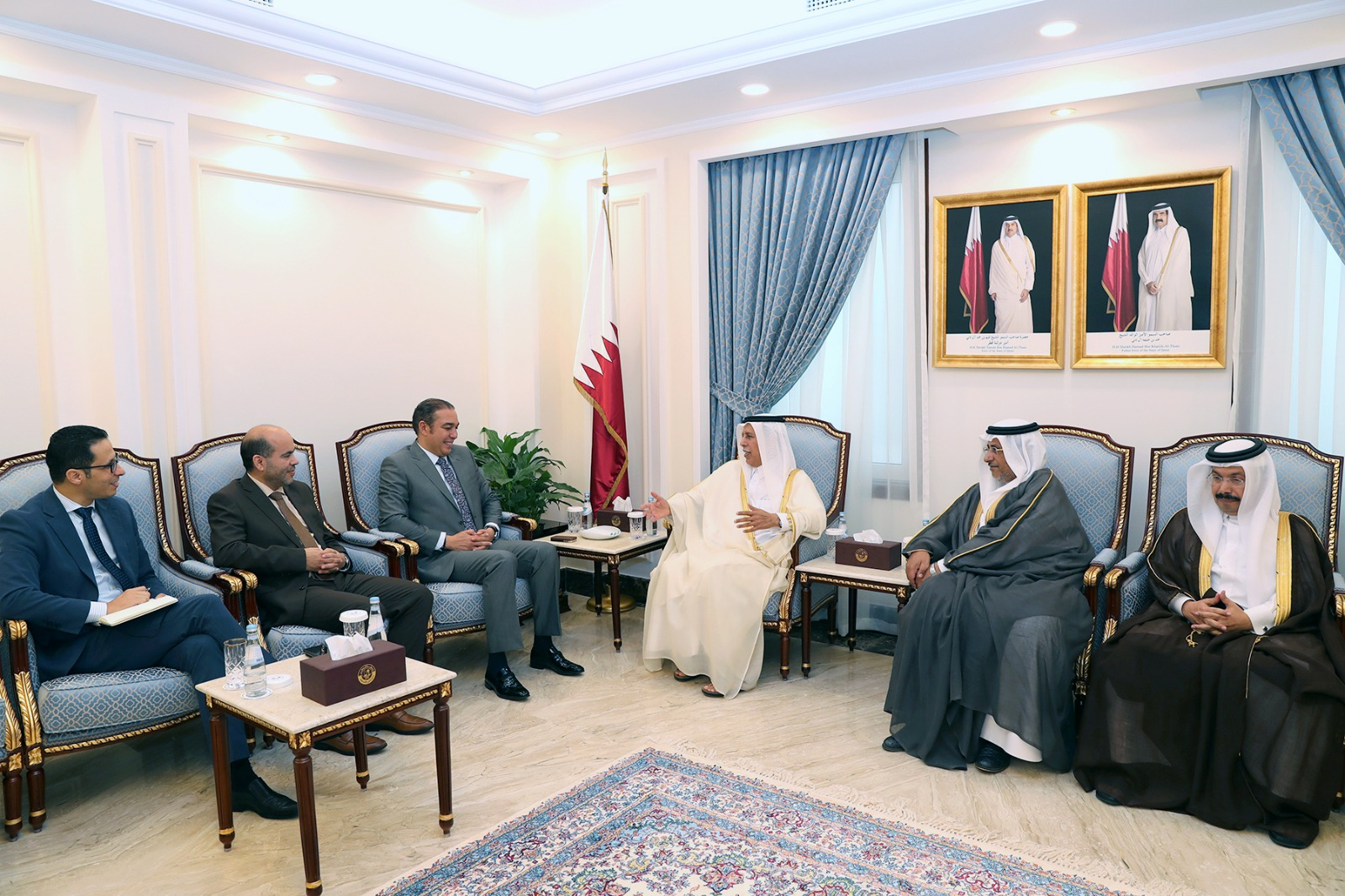 Shura Speaker meets a Moroccan Parliamentary Delegation
