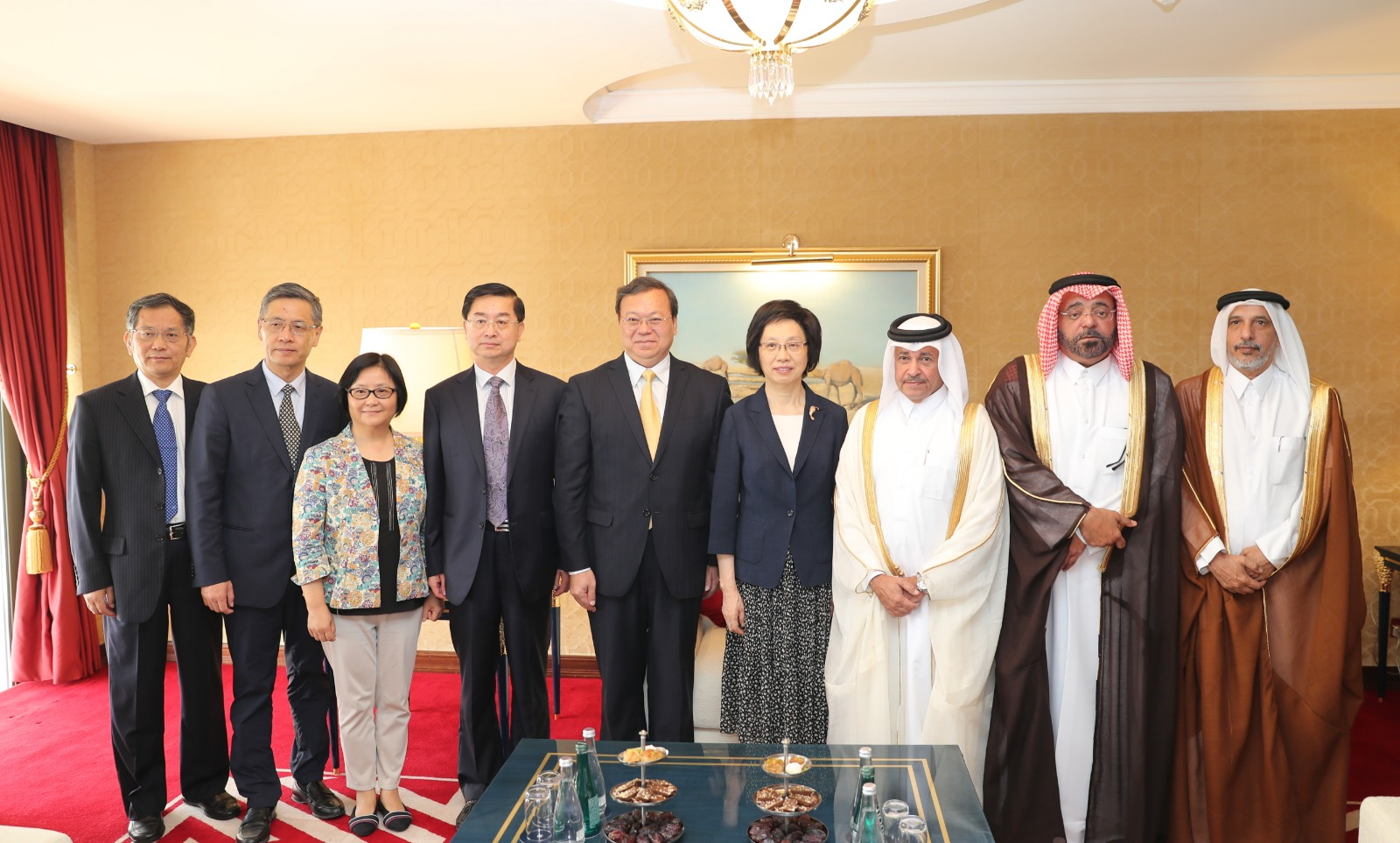 The Qatari- Asian Parliamentary Friendship Group holds a meeting