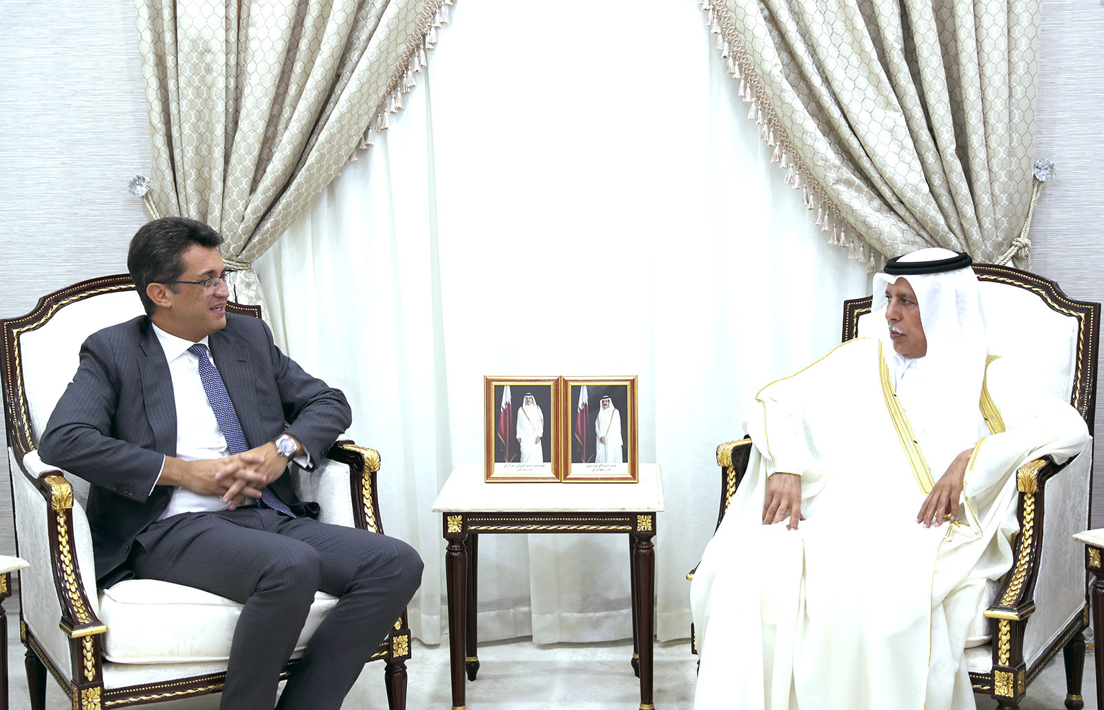 The Speaker of the Shura Council meets with the President of the European Union Delegation to Qatar