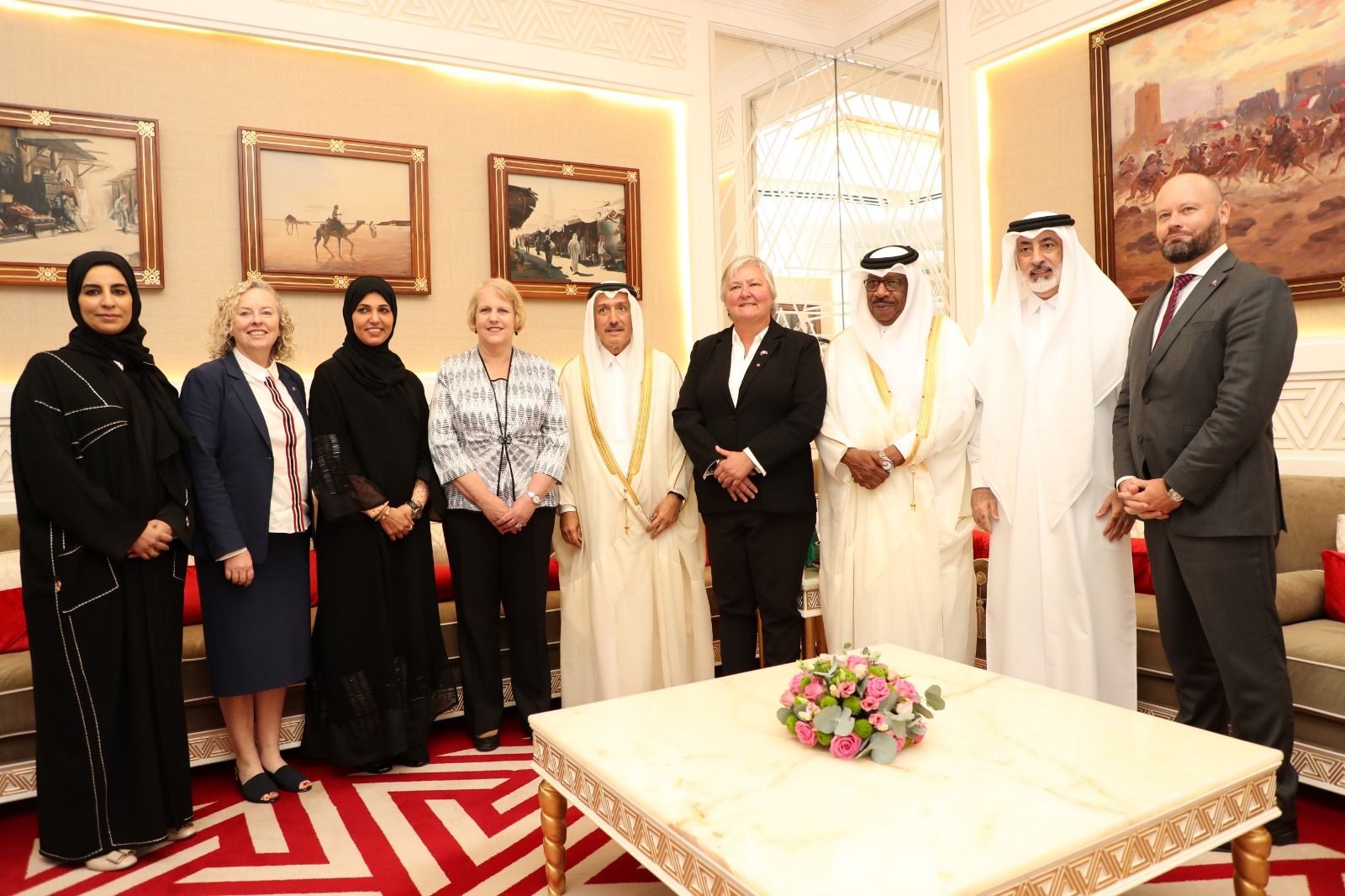 Qatar Parliamentary Friendship Group with the United States, Canada, Australia and New Zealand in the Shura Council meets with a delegation from the Australian Parliament