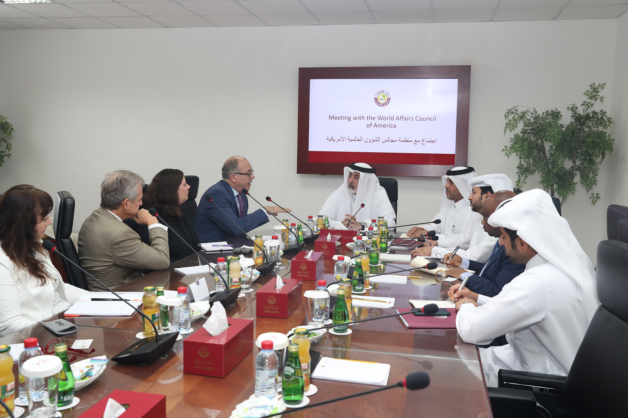 Shura Council, World Affairs Councils of America Discuss Cooperation