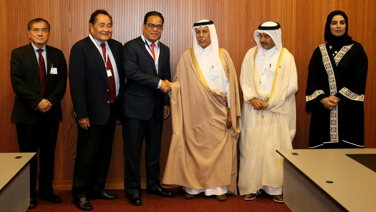 Speaker of Advisory Council Meets Heads of International Parliaments