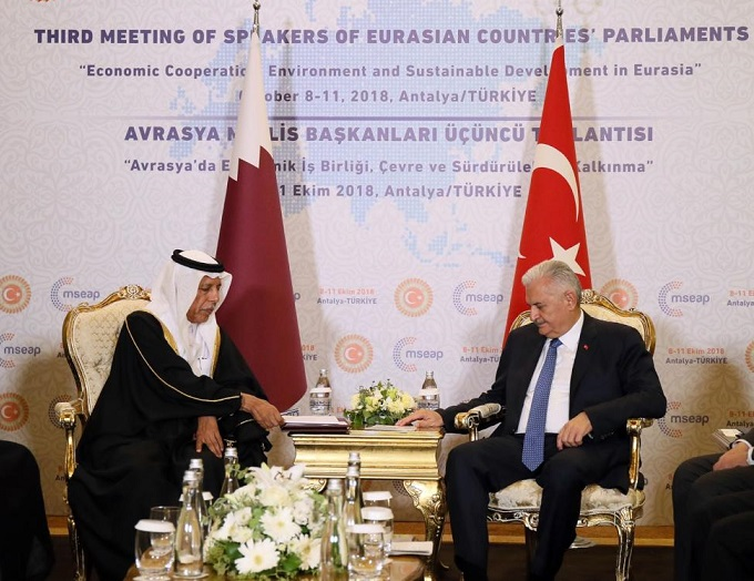 Speaker of Advisory Council Meet President of Grand National Assembly of Turkey